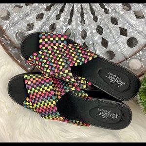 Dexflex Sport Rainbow Weave Wedge Sandals